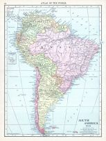South America, World Atlas 1913